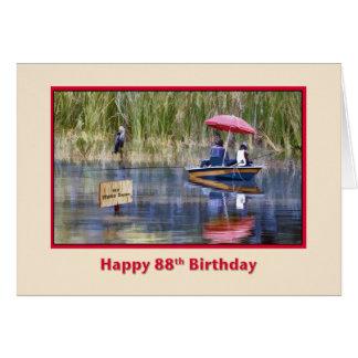 Cartão Aniversário, 88th, dois pescadores no lago