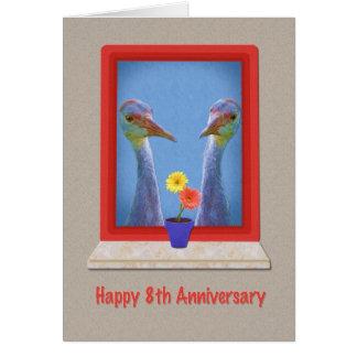 Cartão Aniversário, 8os, dois guindastes de Sandhill