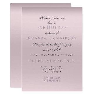 Cartão Aniversário Amethyst roxo da noiva da lavanda do