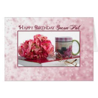 Cartão Aniversário - amigo secreto - rosas