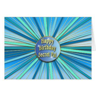 Cartão Aniversário - AMIGO SECRETO - Sunburst -