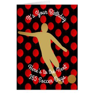 Cartão Aniversário aos próximos 365 dias do futebol