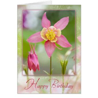 Cartão Aniversário aquilégia