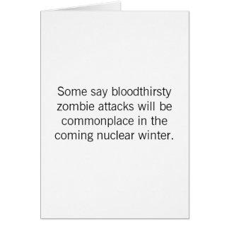Cartão Aniversário - ataques do zombi