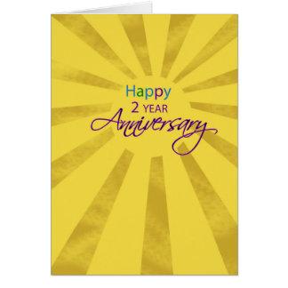 Cartão Aniversário bienal Sun do negócio do empregado