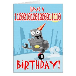 Cartão Aniversário binário