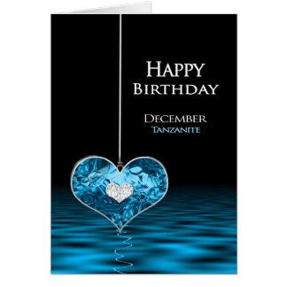 Cartão Aniversário - Birthstone - dezembro - Tanzanite