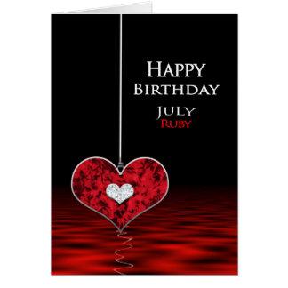 Cartão Aniversário - Birthstone - JULHO - rubi