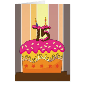 Cartão aniversário - bolo com velas 75 - 75th aniversário