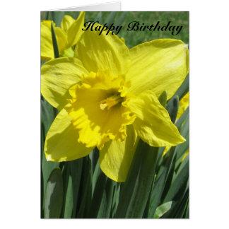 Cartão Aniversário bonito do Daffodil