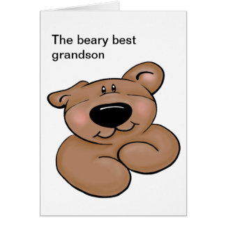 Cartão Aniversário bonito do urso de ursinho