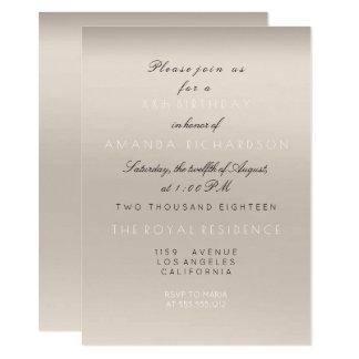 Cartão Aniversário branco bege cremoso do marfim do
