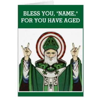 Cartão aniversário católico engraçado