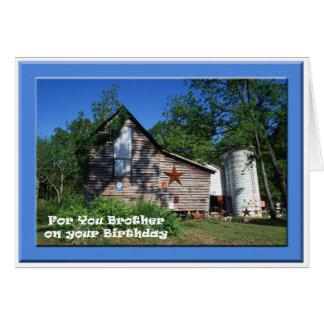 Cartão Aniversário - celeiro velho de Virgínia do irmão