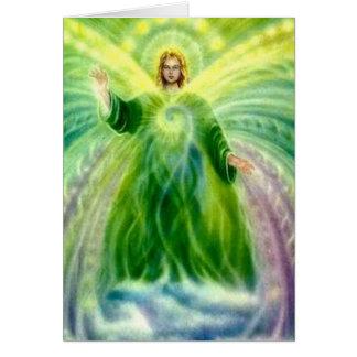 Cartão Aniversário claro cura de Raphael do arcanjo