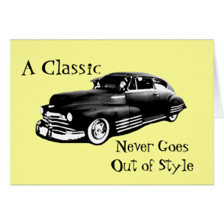 Cartão Aniversário clássico do carro