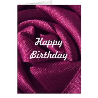 Cartão Aniversário cor-de-rosa do fúcsia feito sob