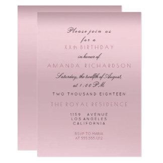 Cartão Aniversário cor-de-rosa malva da noiva da lavanda