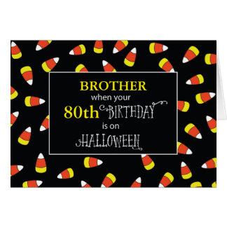 Cartão Aniversário customizável o Dia das Bruxas da