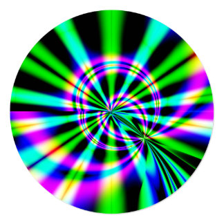 Cartão Aniversário da arte do Fractal da roda de Ferris