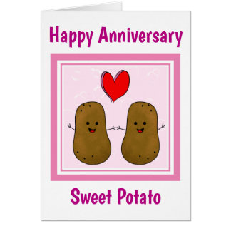 Cartão Aniversário da batata