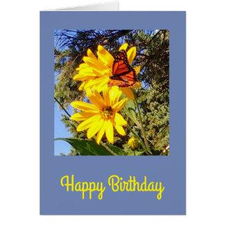 Cartão Aniversário da borboleta