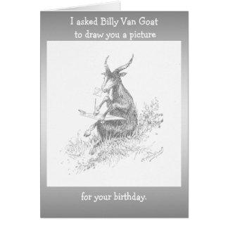 Cartão Aniversário da cabra