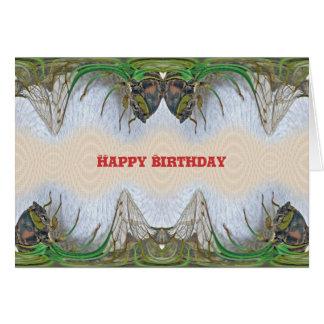 Cartão Aniversário da cigarra de Fantasmagorical