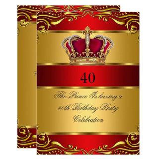 Cartão Aniversário da coroa do príncipe rei Régio