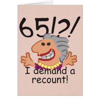 Cartão Aniversário da descrição engraçada 65th
