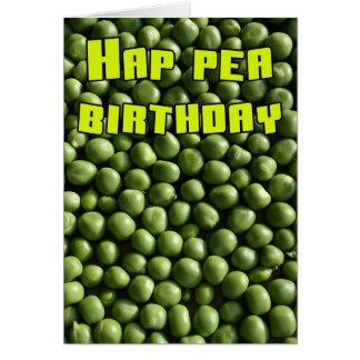 Cartão Aniversário da ervilha do Hap