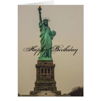Cartão Aniversário da estátua da liberdade