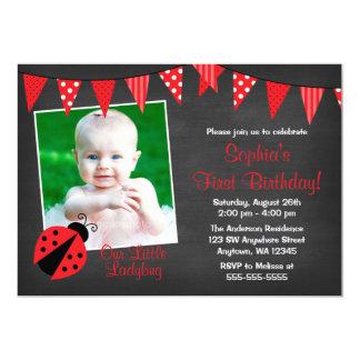 Cartão Aniversário da foto do quadro do joaninha