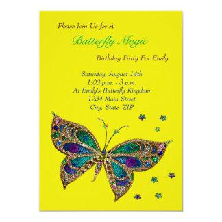 Cartão Aniversário da mágica da borboleta