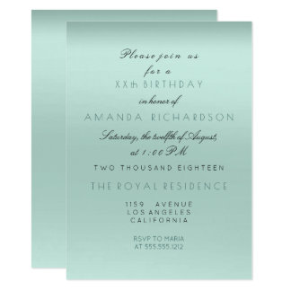Cartão Aniversário da noiva da hortelã do Aqua de Tiffany