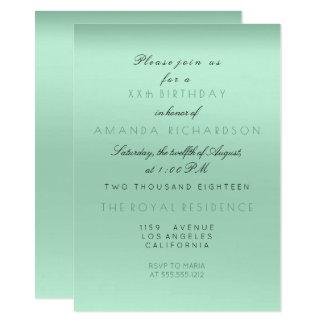 Cartão Aniversário da noiva do verde da hortelã de
