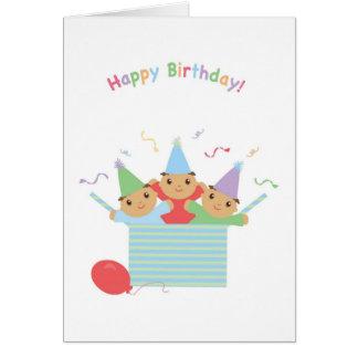 Cartão Aniversário da objectiva tripla