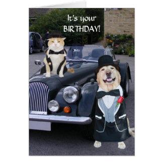Cartão Aniversário da parte alta da cidade