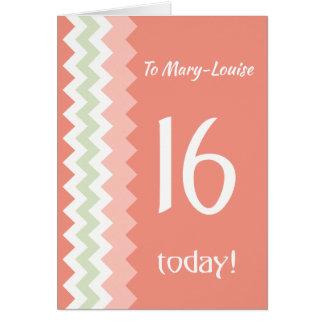 Cartão Aniversário da parte dianteira feita sob encomenda