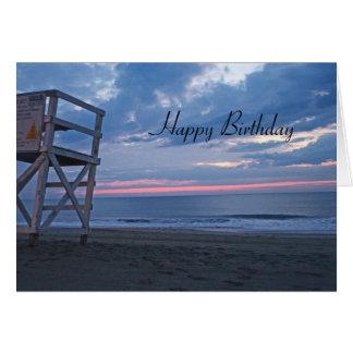 Cartão Aniversário da praia