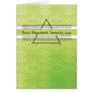 Cartão Aniversário da recuperação da felicidade da paz