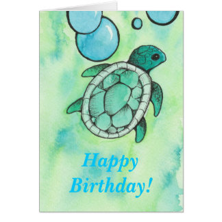 Cartão Aniversário da tartaruga