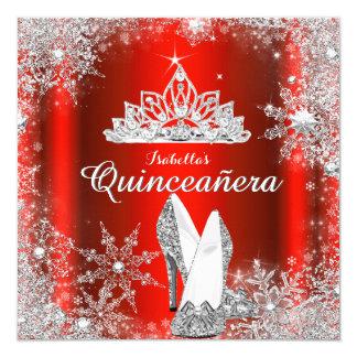Cartão Aniversário da tiara de prata vermelha régia de