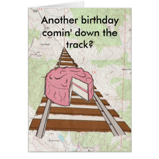 Cartão Aniversário da trilha do trem