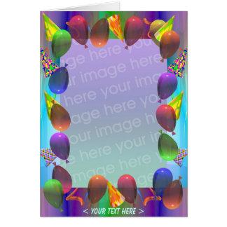 Cartão Aniversário da vida do partido (quadro da foto)
