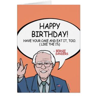 Cartão Aniversário das máquinas de lixar de Bernie -