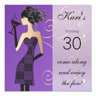 Cartão Aniversário das meninas ou festança de