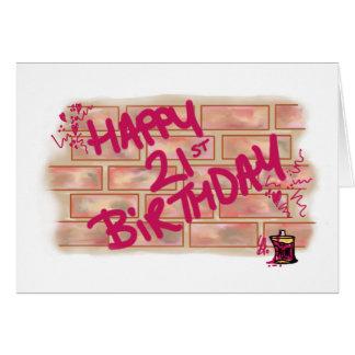 Cartão Aniversário de 21 anos