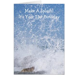 Cartão Aniversário de 21 anos do oceano