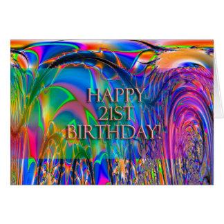 Cartão Aniversário de 21 anos feliz!